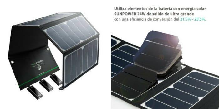 cargador solar ravpower 24w