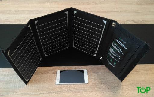 Cargador solar RAVPower paneles extendidos