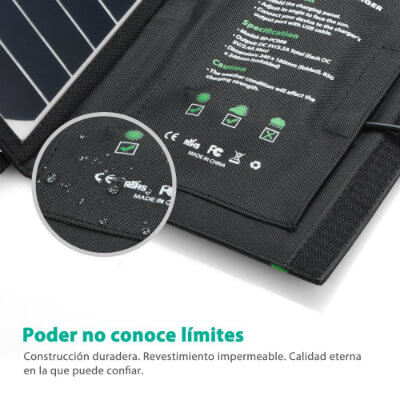material cargador solar RAVPower 16W