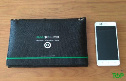 cargador solar ravpower paneles plegados