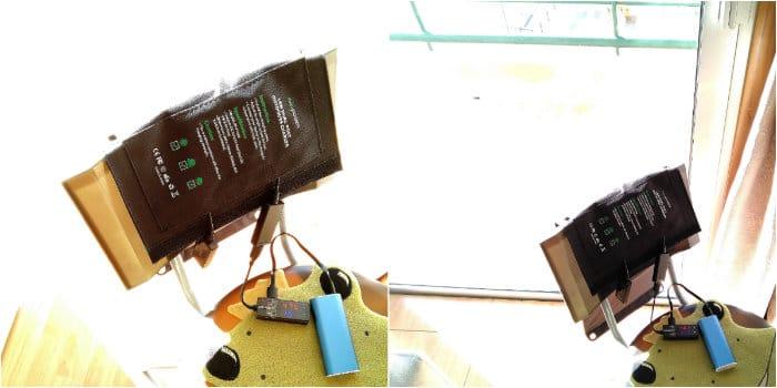 cargador solar ravpower ventana