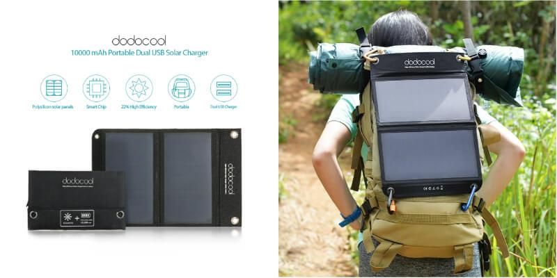 cargador solar dodocool 12W