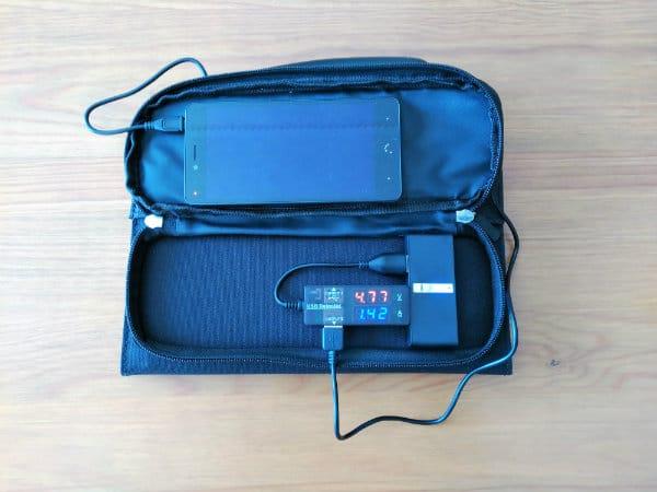 review cargador solar dodocool 12w carga bateria interna