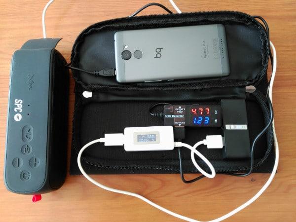 review cargador solar dodocool 12w carga conjunta
