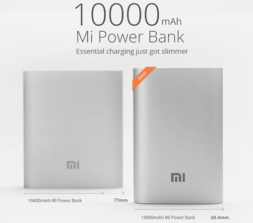 review xiaomi powerbank 10000mah diseño