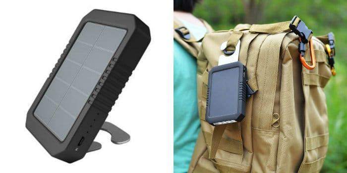 review cargador solar dodocool 4200 mah soporte