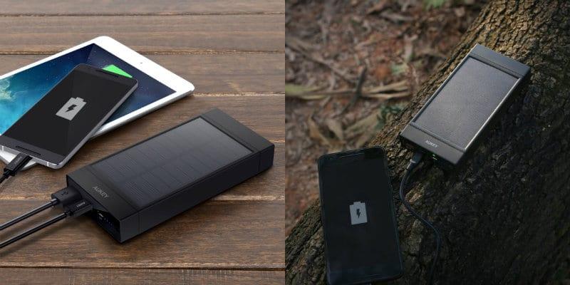 bateria externa solar aukey 16000mah