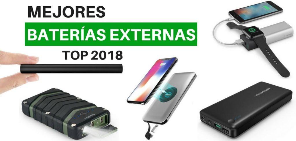 mejores baterias externas 2018