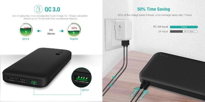 batería externa ec technology 26800 mAh