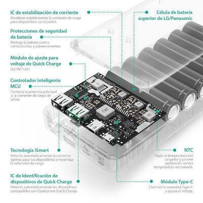 Circuito electrónico power bank