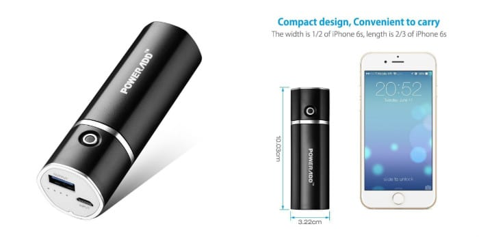 bateria externa bolsillo poweradd 5000mah