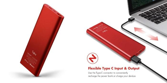 bateria externa tqka 10000mah