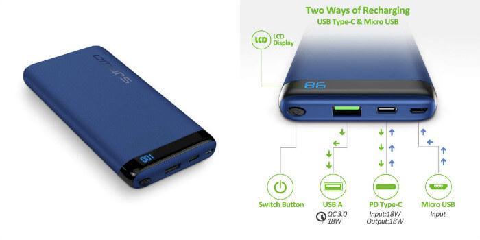 bateria externa omars 10000mah