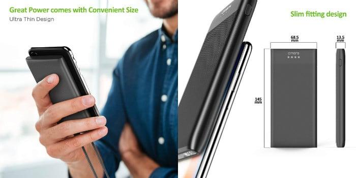 bateria externa omars slim 10000 mah