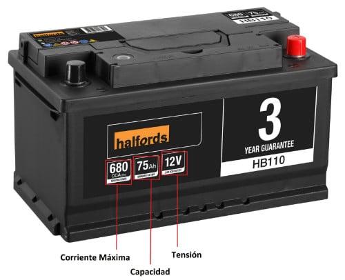 Características batería 12V