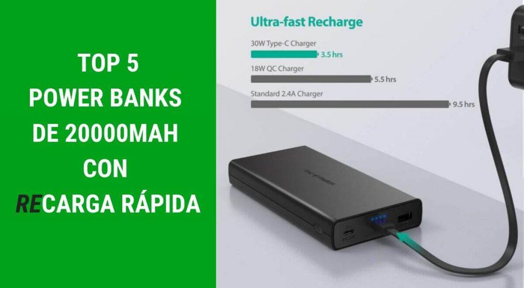Power banks 20000mah recarga rapida