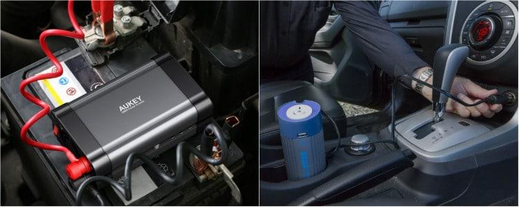 inversor mechero bateria coche
