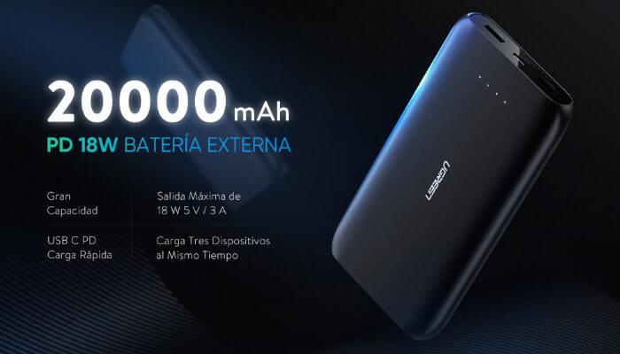 bateria externa 20000mah Ugreen