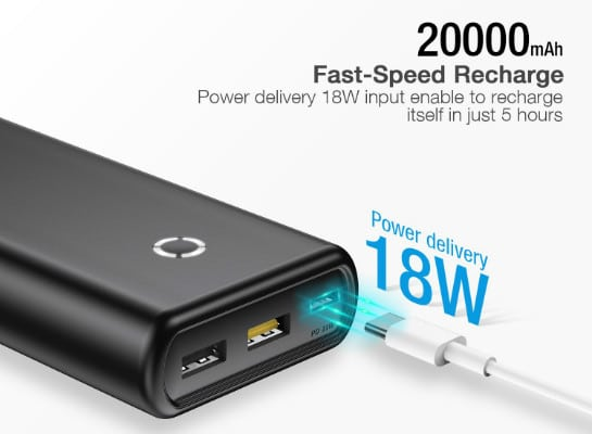 poweradd energycell 20000mah fast recharge